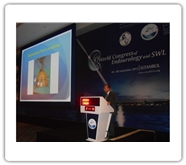 Dr.Canda giving a Robotic Urology talk during WCE 2012