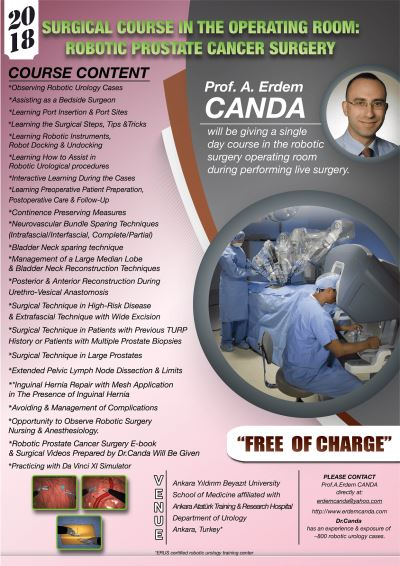 Robotic prostate cancer surgery course by Prof.Canda, 2018