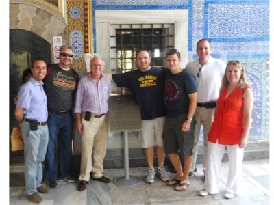 Dr.Canda with colleagues at WCE 2012, sightseeing tour in Istanbul